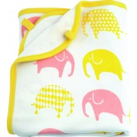 LittlephantBlanket Elephant White/Yellow/Pink