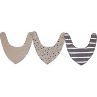 KulingNewborn Bib/Scarf 3-pack Dusty Grey