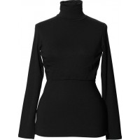 BoobJackie Polo Neck Top Black