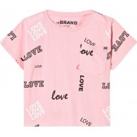 The BRANDPocket T-shirt Pink Love104/110 cm