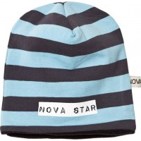 Nova StarBeanie Fleece Lined Striped Blue