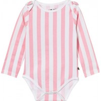 The BRANDBow Baby Body Rosa Ränder56/62 cm