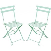 JOXFurniture Caféstol Metall Mint 2-pack
