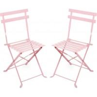 JOXFurniture Caféstol Metall Rosa 2-pack