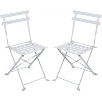 JOXFurniture Caféstol Metall Vit 2-pack