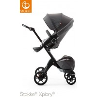 StokkeXplory® Black Athleisure Stroller Coral