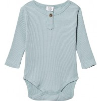Hust&ClaireRibbad Baby Body, Petrol68 cm