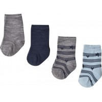 Name ItBabystrumpor 4-pack, Dress Blues/Grey50/56 cm