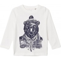 TimberlandMontain Bear Print T-shirt Vit16 years