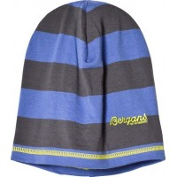 BergansMössa, Merinoull, Fjellrapp, Youth, Warm Cobalt/Solid Grey Stripe