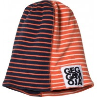 GeggamojaTwo Col Mössa Fleece Marine/Orange