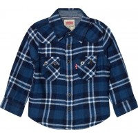 Levis KidsBlue and White Check Woven Shirt2 years