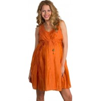 Mom2moMPleated Dress Burnt Orange