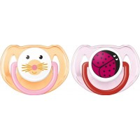 Philips AventPhilips Avent, Napp, Animal, 6-18 mån, 2-pack, Pink