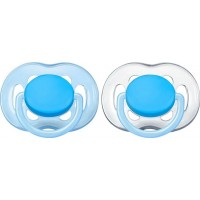 Philips AventPhilips Avent, Napp, Freeflow Plain, 6-18 mån, 2-pack, Blue