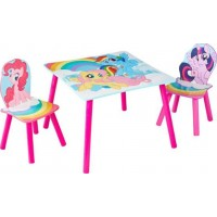 Hello HomeMy Little Pony 1 Bord och 2 Stolar Set