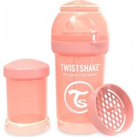 TwistshakeNappflaska Anti-Kolik 180ml Pastel Peach 0+m