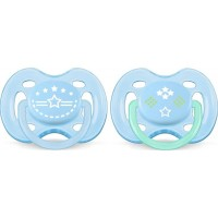 Philips AventPhilips Avent, Napp, Freeflow, 0-6 mån, 2-pack, Blue