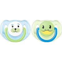 Philips AventPhilips Avent, Napp, Animal, 6-18 mån, 2-pack, Blue