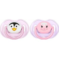 Philips AventPhilips Avent, Napp, Animal, 0-6 mån, 2-pack, Pink