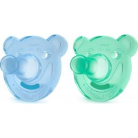 Philips AventPhilips Avent, Napp, Soothie Shapes, 3+, 2-pack, Green/Blue