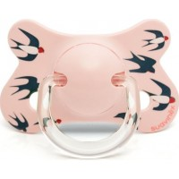 SuavinexFusion Napp Physiological Silikon 4-18m Pink Swallow