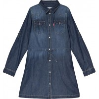 Levis KidsDark Wash Denim Long Sleeve Dress2 years