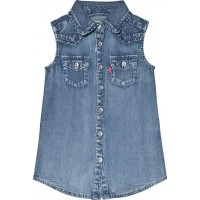 Levis KidsLight Acid Wash Sleevless Shirt Dress3 years