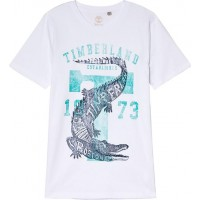 TimberlandCrocodile Branded T-shirt Vit2 years