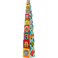 Djeco10 Fordon stacking blocks