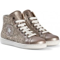 BisgaardShoe with laces Gold-Glitter26 EU