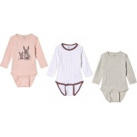 Me TooBaby Body 3-pack Wistful Mauve62 cm