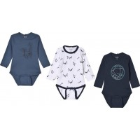 Me TooBaby Body 3-pack Dress Blues68 cm