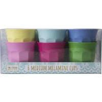 Rice6-Pack Medium Melamin Mugg Classic Colors