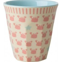 RiceMelamine Liten Mugg Crabs and Starfish Print
