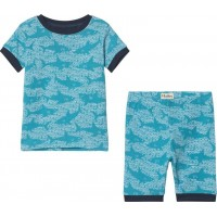 HatleyShark Alley Short Pyjamas Set Blå2 years