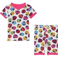 HatleyRainbow Ladybirds Short Pyjamas Set Vit7 years