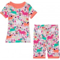 HatleyRoaming Horses Short Pyjamas Set Rosa2 years