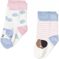 Joules2-pack Cat and Dog Strumpor Cream/Stripe6-12 months