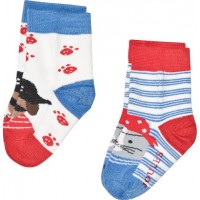 JoulesBlue and Red Dog Pirate 2 Pack Sockar2-3 years