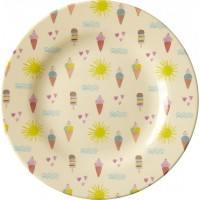 RiceMelamine Side Plate with Summer Print