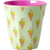 RiceMelamine Cup with Ice Cream Print