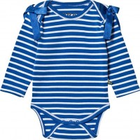 The BRANDInterlock Baby Body Blå/Vit56/62
