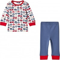 Max CollectionPyjamas Set Vit/Blå56 cm