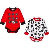 Disney Mickey MouseMusse Pigg 2-Pack Baby Body Röd/Vit68 cm
