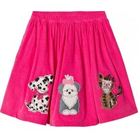 Lands' EndDog and Cat Applique Midi Kjol RosaL (11-12 years)