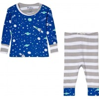 HatleyOuter Space Pyjamas Set Blå3-6 months