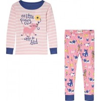 HatleyStriped Little Piggy Pyjamas Rosa2 years