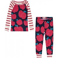 HatleyPolka Dot Apples Pyjamas Marinblå/Röd2 years