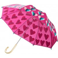 HatleyPink Hearts Paraply Lila
